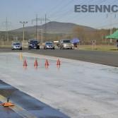 Pohled na cvičnou dráhu polygonu kurzu bezpečné jízdy Sosnová